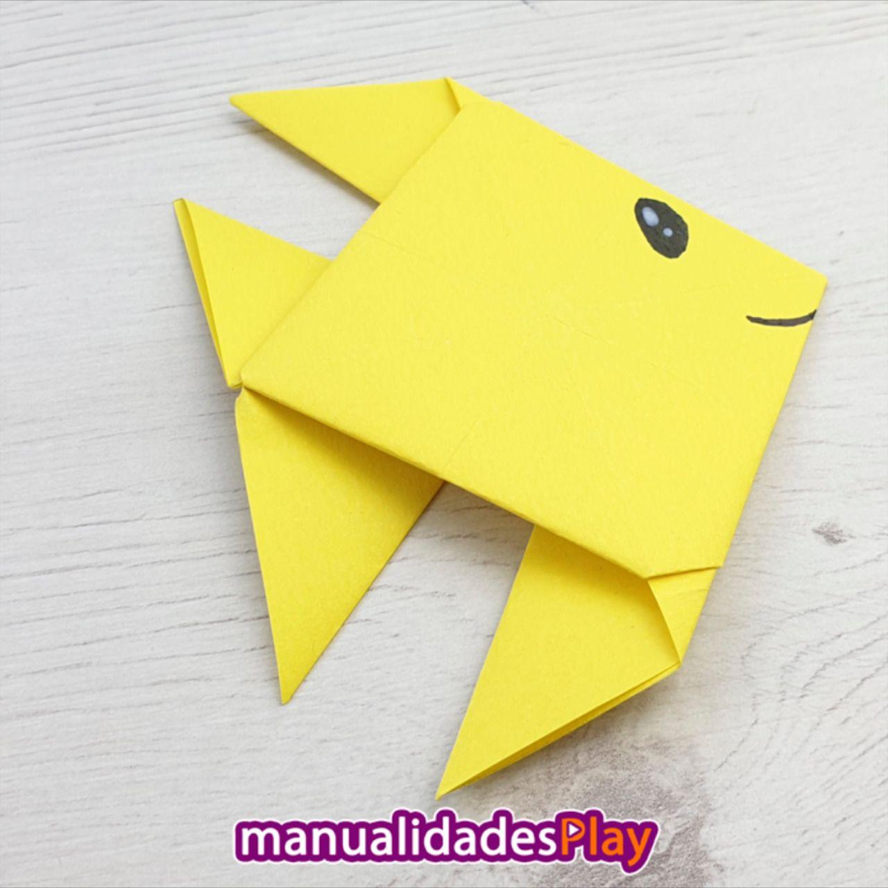 Como Un Hacer Pez De Papel Animales De Origami En 2020 Animales De Origami Pez De Papel Origami Facil Para Ninos