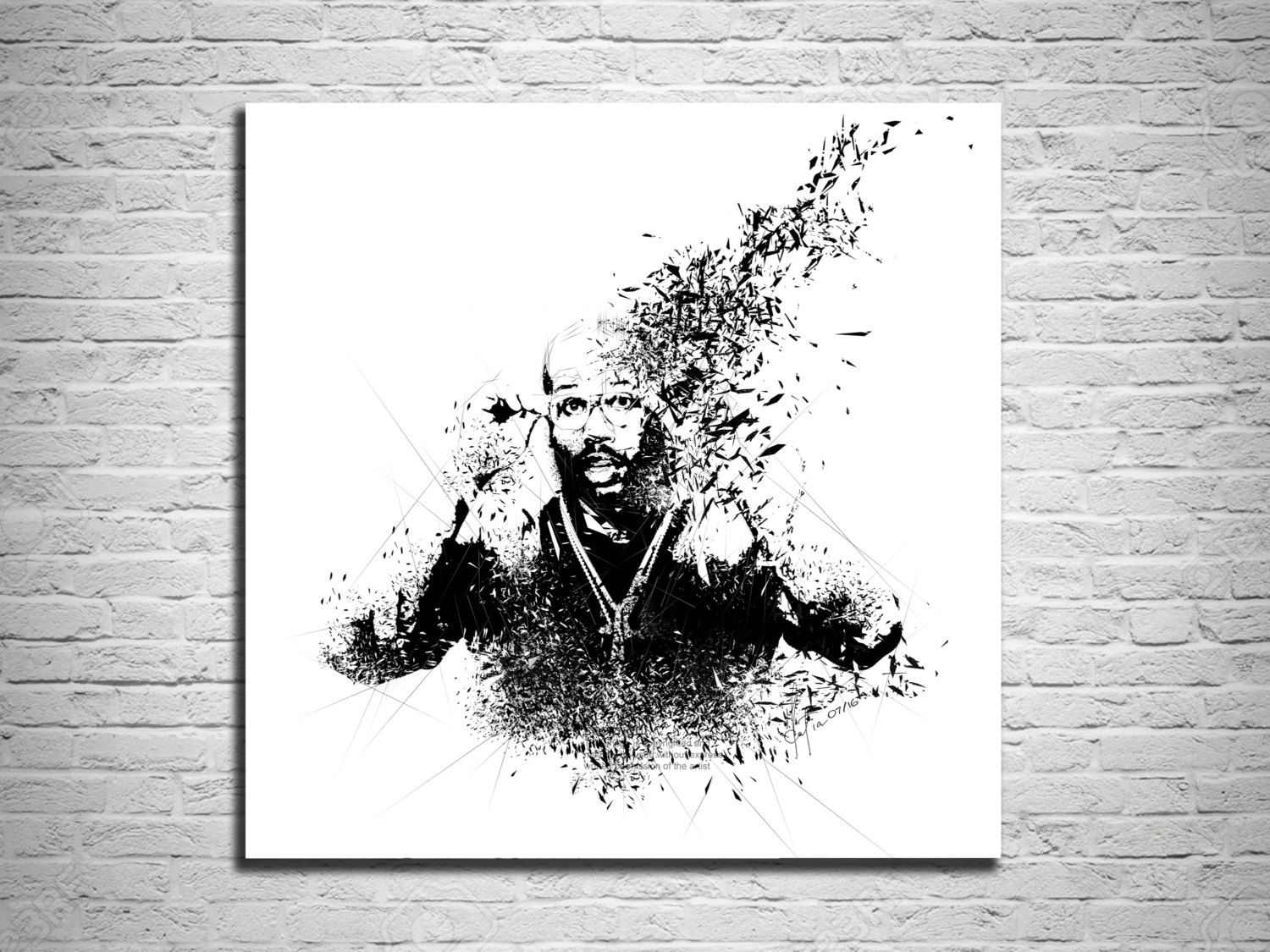 CANVAS PRINT Football Art, Sports Illustration, Sports Poster, V ...
