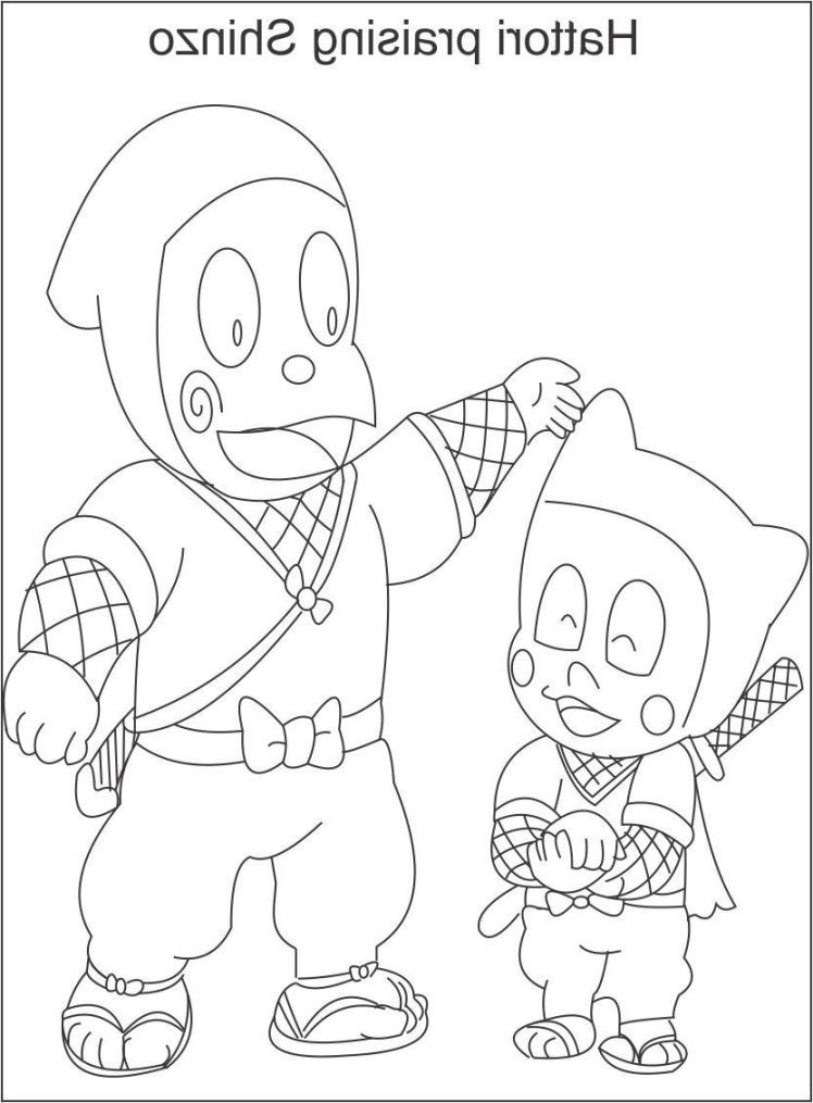 Ninja Hattori Coloring Pictures | Kids activity | Pinterest