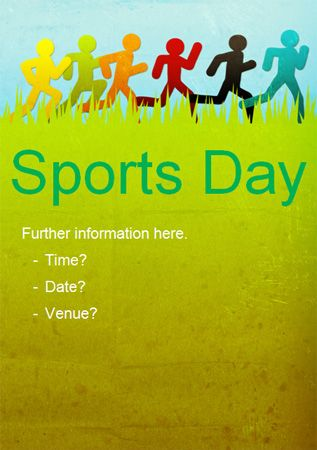 Sports day fun run poster poster ideas pinterest for Sport poster ideas