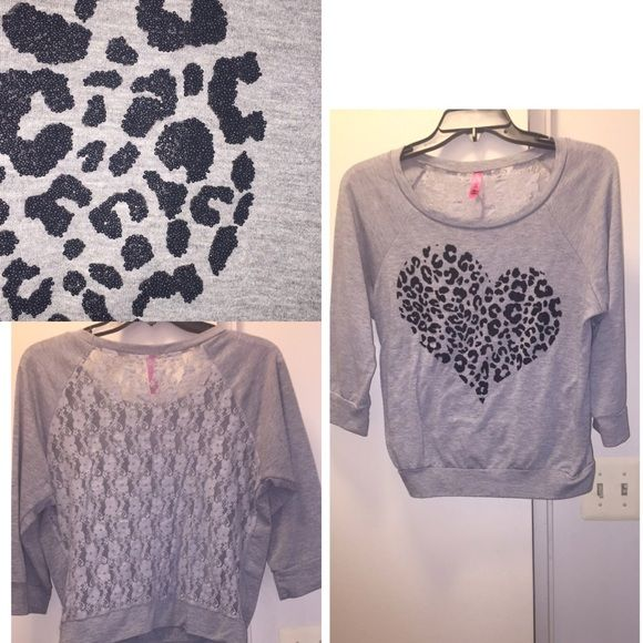 Charlotte Russe lace back top Lace back, bead detail on front Charlotte Russe Sweaters