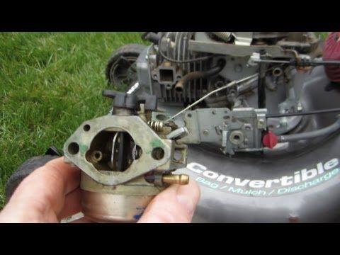 Honda Harmony II HRT 216 SDA Carburetor Cleaning Lawn Mower Repair - Part II - March 27, 2013 - YouTube