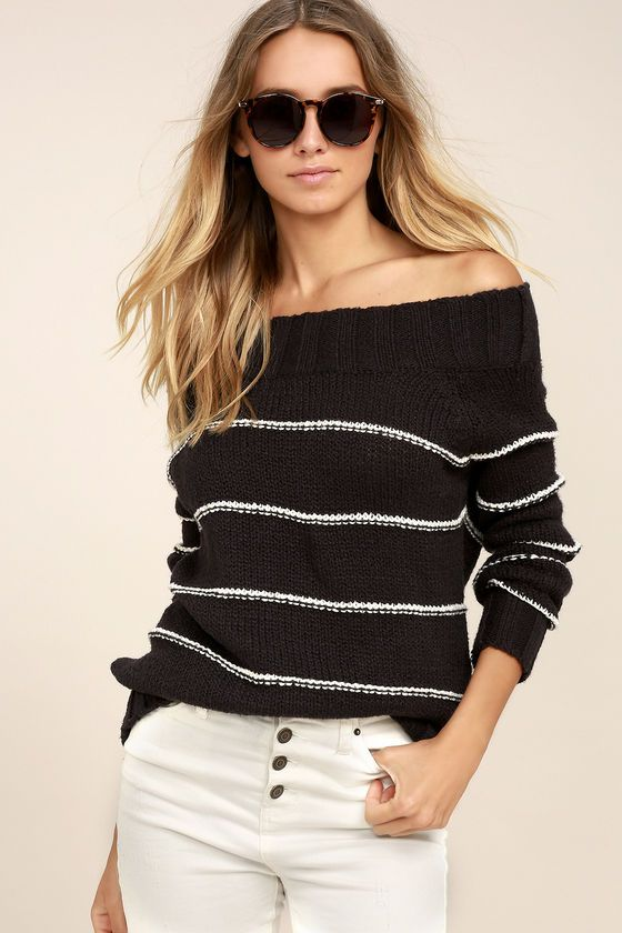 Billabong Snuggle Down Washed Black Striped Sweater | Billabong ...