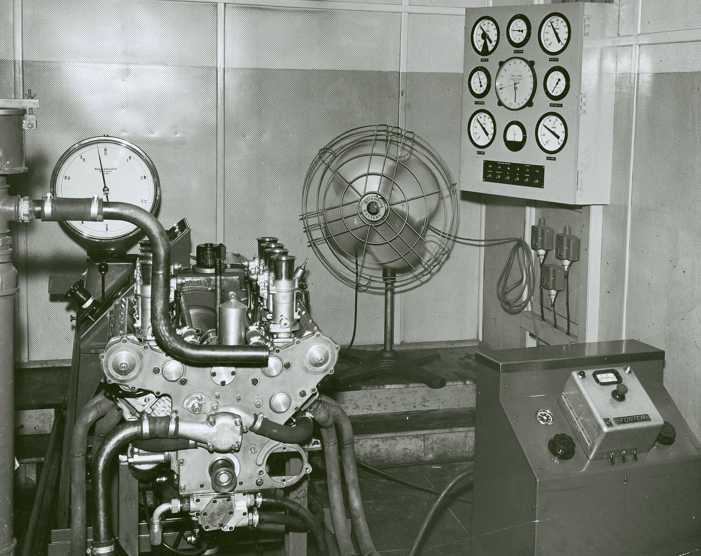 small resolution of the very first repco rb620 v8 in the richmond test cell in 1965 weber carbs on this engine only repco