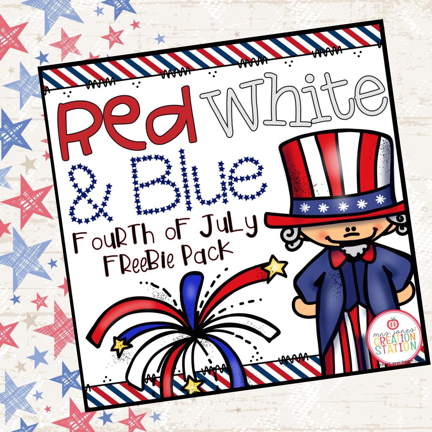 America A Fourth Of July Freebie Pack