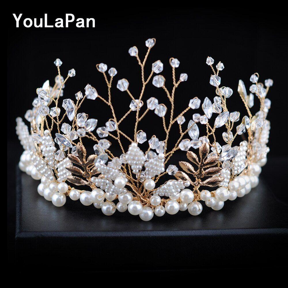Youlapan Hp196 Wedding Headwear Wedding Tiara Beaded Wedding Hair Accessories Bride Crown Bride Hair Accessories Wedding Hair Accessories Hair Jewelry Wedding