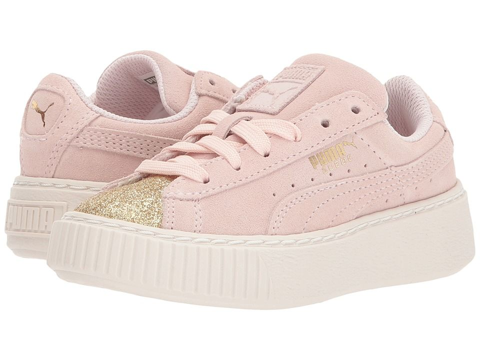 Puma Kids Suede Platform Glam (Big Kid) Girls Shoes PUMA