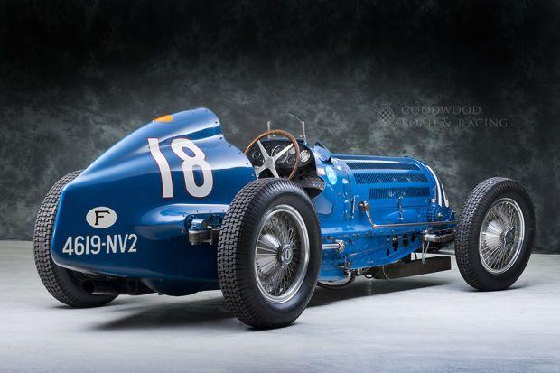 Goodwood Greats 1938 Bugatti Type 59 50 Biii Old Race Cars Classic Racing Cars Bugatti