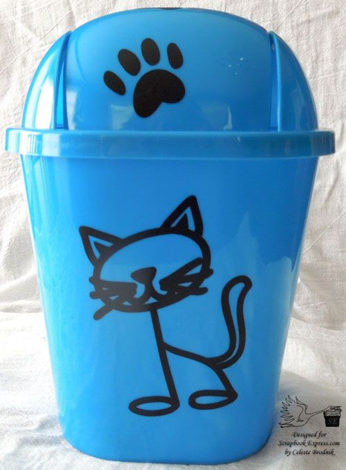 Diy Cat Trash Can Dollar Store Find Upgraded With The