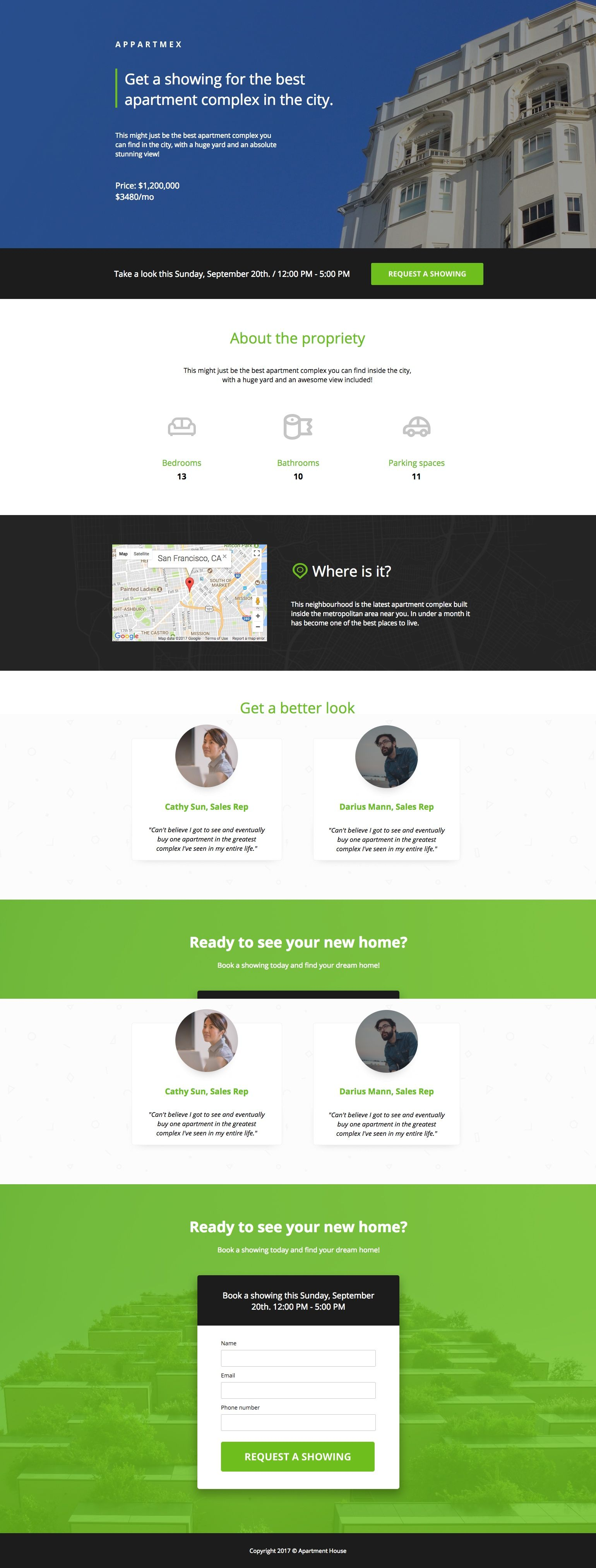 This landing page is perfect for real estate listings ...