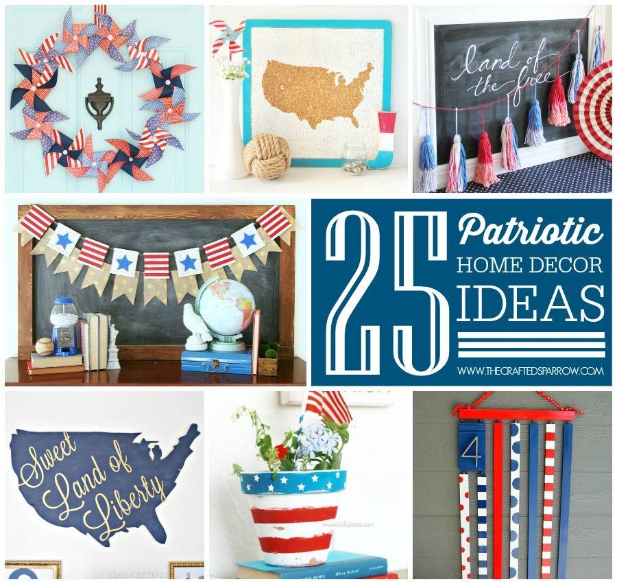25 Patriotic Home Decor Ideas Patriotic Decorations Patriotic Printables Painting Burlap