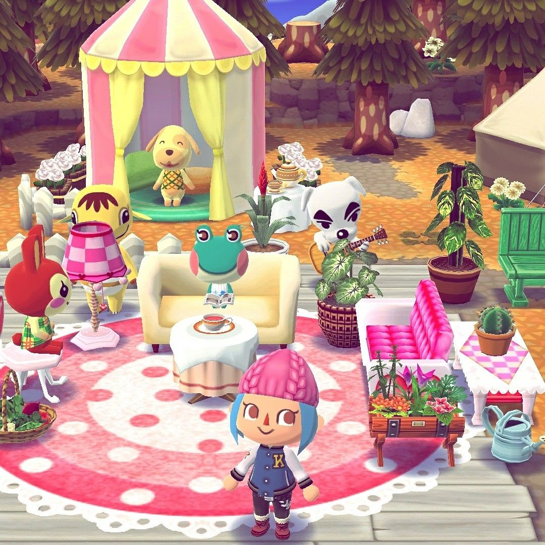 My campsite from Animal Crossing Pocket Camp! Animal