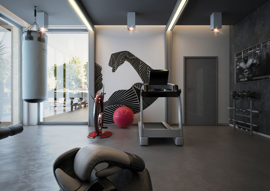 25 Stunning Private Gym Designs For Your Home | Fitness design ...