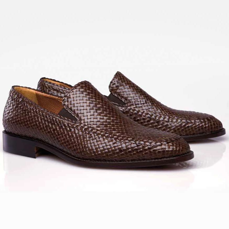Stemar by Moreschi Messina Hand Woven Side Gore Loafers | MoreschiShoes.com