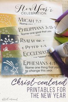 New Year Celebration Scripture Printables   Scriptures, Celebrations ...