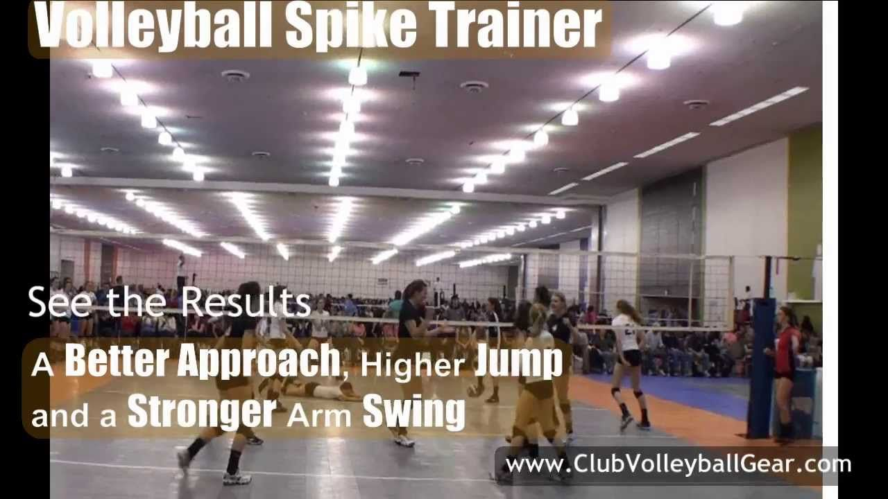 Volleyball Training Equipment Allows Girls And Boys To Work On Their Approach And Hitting Technique Al Volleyball Spike Trainer Volleyball Volleyball Equipment