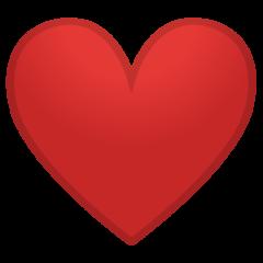 Red Heart On Google Android 8 1 Heart Emoji Emoticon Love Emoji