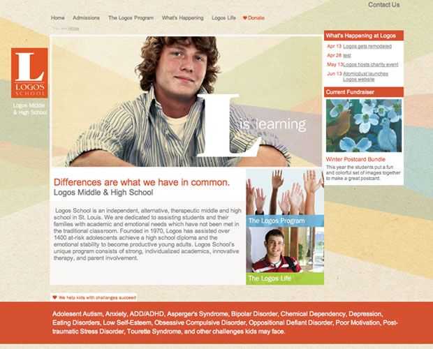 Logos School Nonprofit Marketing School Learning Disabilities