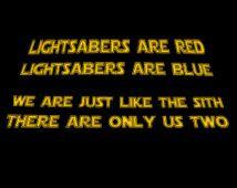 Star Wars Love Poem Custom Valentines Sith Shirt Star Wars