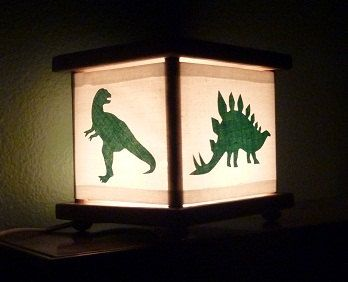 Dinosaur Lamp Dinosaur Nightlight Night Light By Babymamma1, $23.00