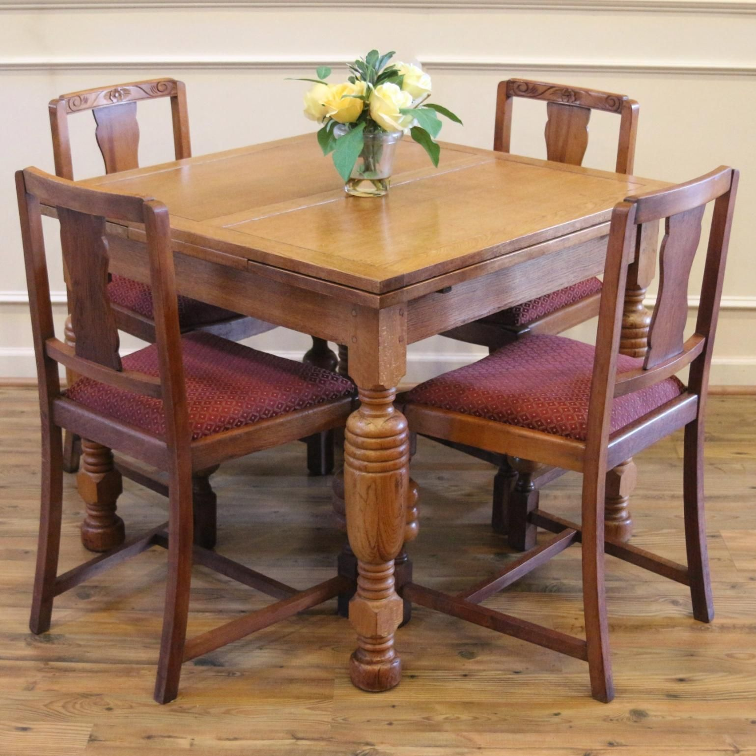 Pub Table And 4 Chairs Dining Set