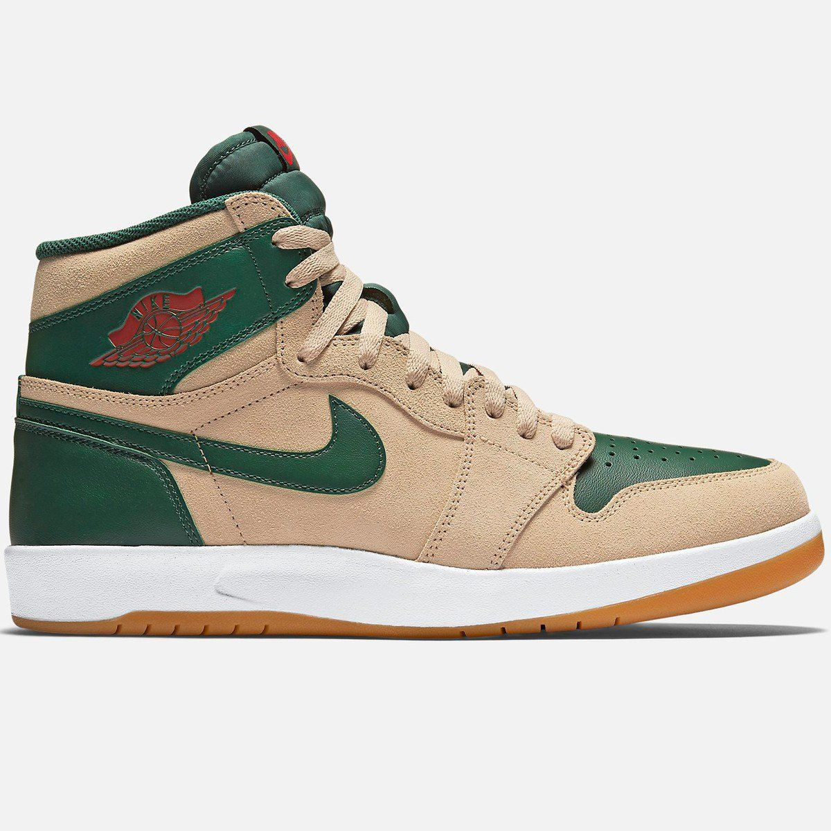 Air Jordan 1 High The Return Sand Dune/Gorge Green/White/University Red