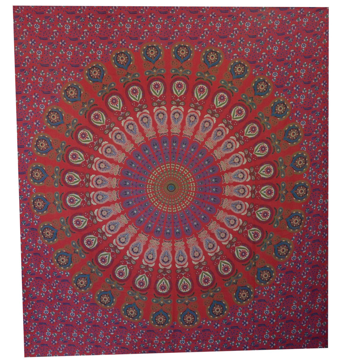 Hippie tapestries tapestry wall hanging mandala tapestries red