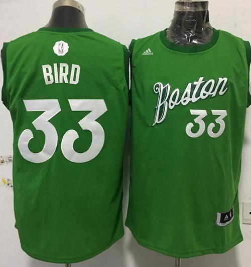 buy popular 309a6 56cb9 Celtics #33 Larry Bird Green 2016-2017 Christmas Day ...