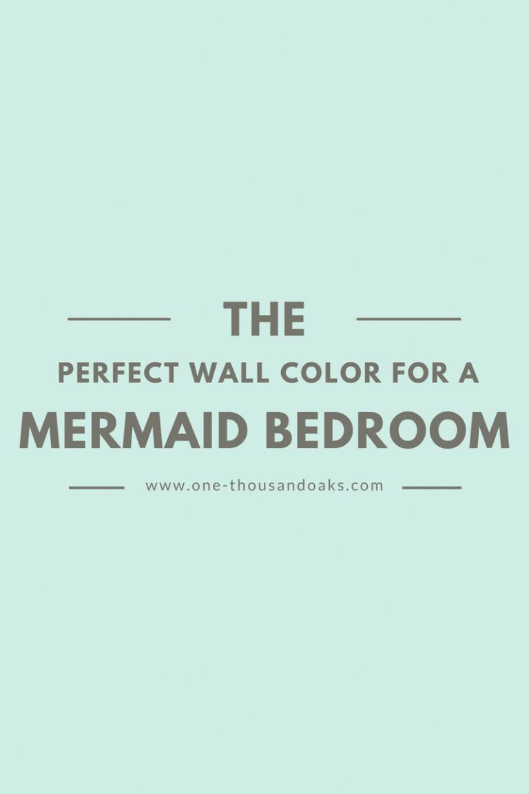 Under the Sea Mermaid Bedroom Paint Colors & ORC Week 3 images
