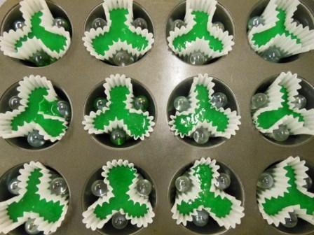 O trevo de 3 folhas - Shamrock Cupcakes símbolo não oficial da Irlanda e da cidade de Boston, no Massachusetts.