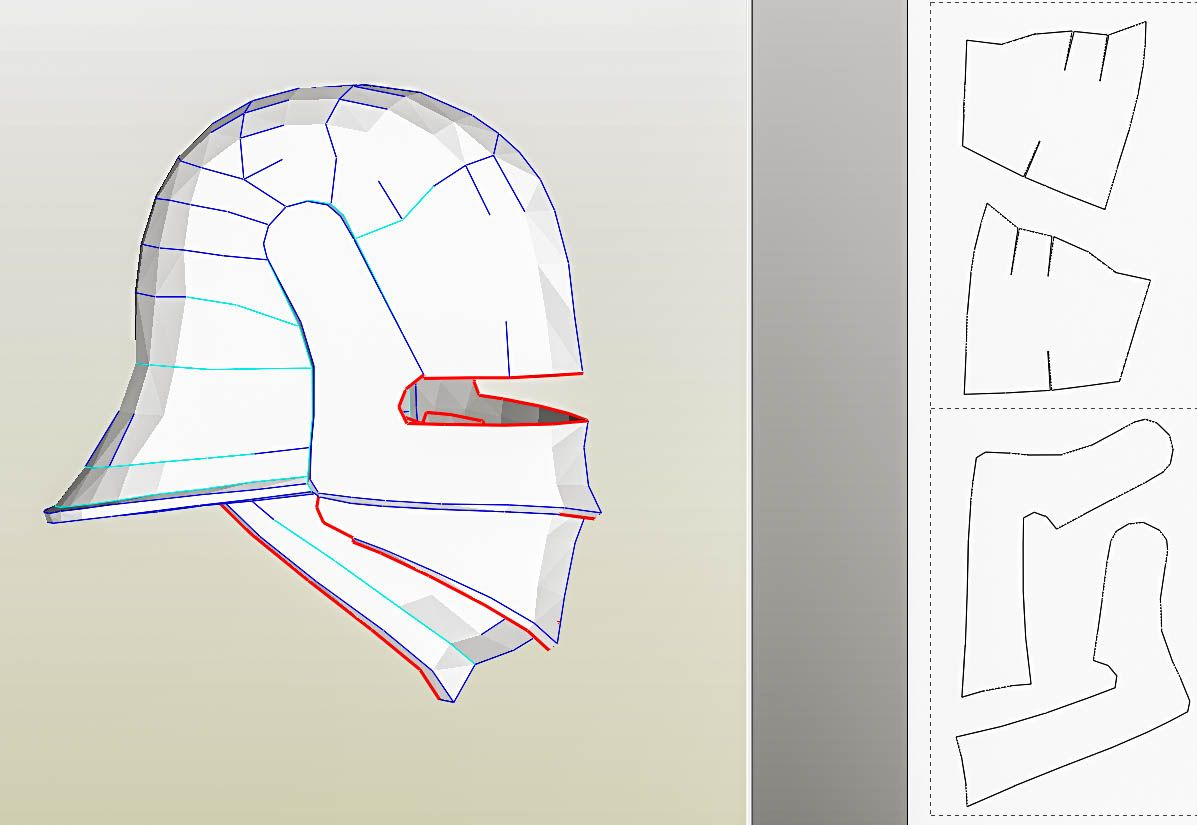 knight helmet template c a maintenance