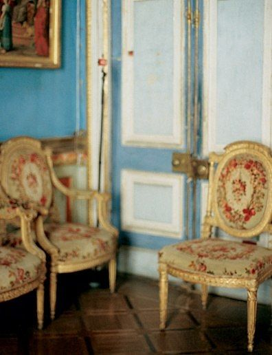The bright blues of the Paintings Gallery at Ostankino are often