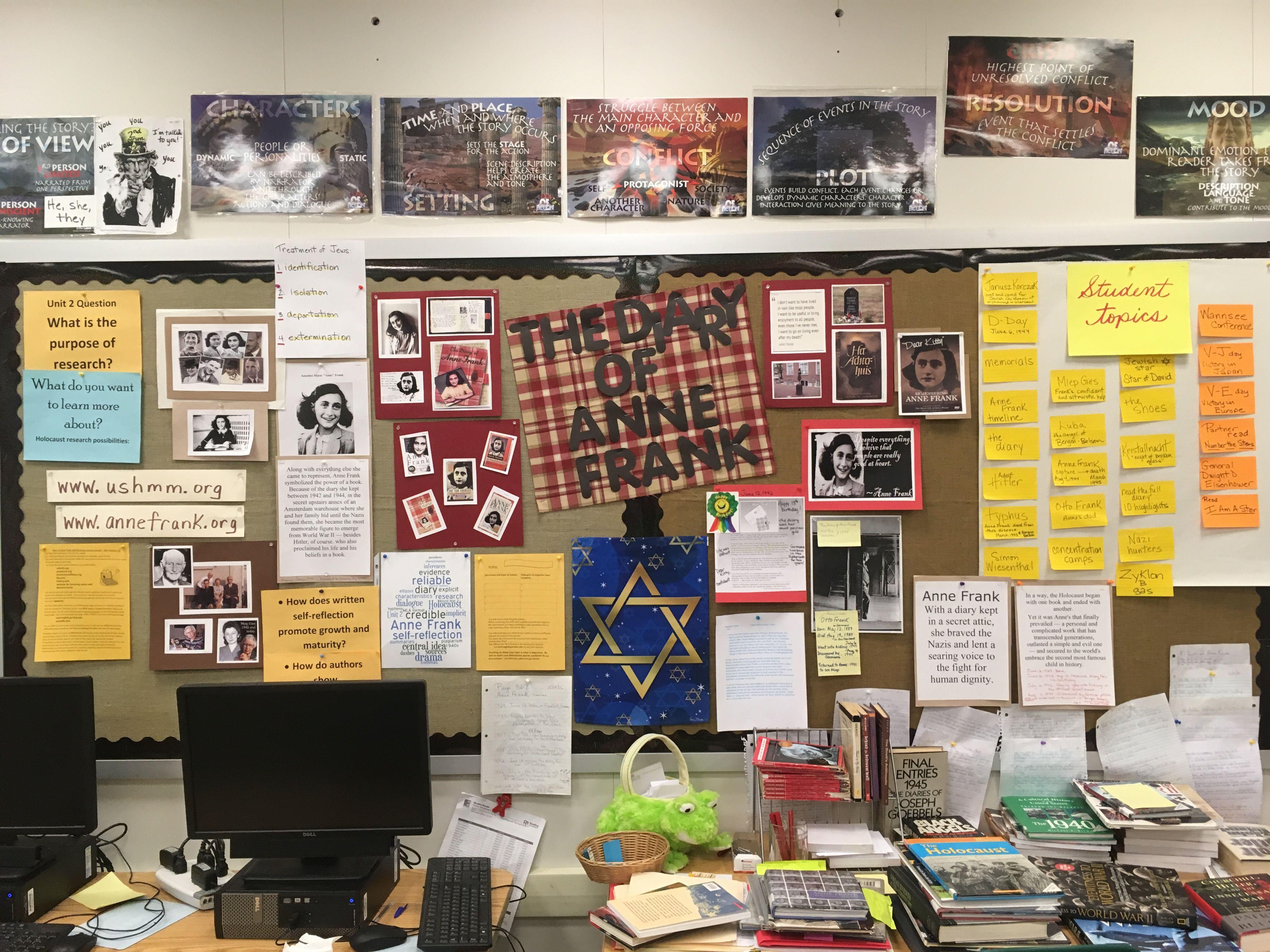 Mrs H S Anne Frank Bulletin Board