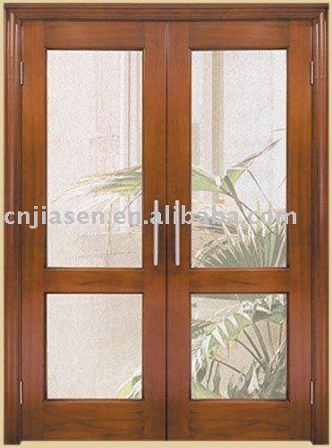 Puertas de interior de madera con vidrio buscar con for Puerta doble madera