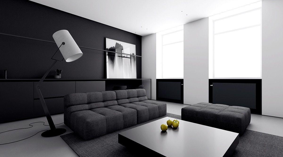 4 Monochrome, Minimalist Spaces Creating Black And White Magic | Intérieur,  Espace Et Idées Pour La Maison