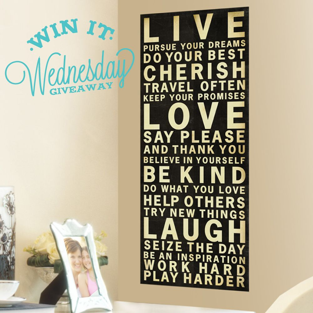 Perfect DIY Teen Wall Decor | ... Live, Love, Laugh Wall Decal Banner