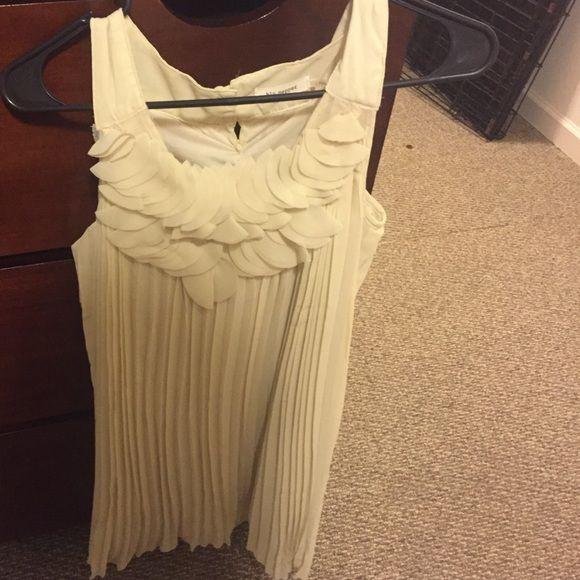 Cream dress Never worn cream sheer dress Blu Pepper Dresses Midi