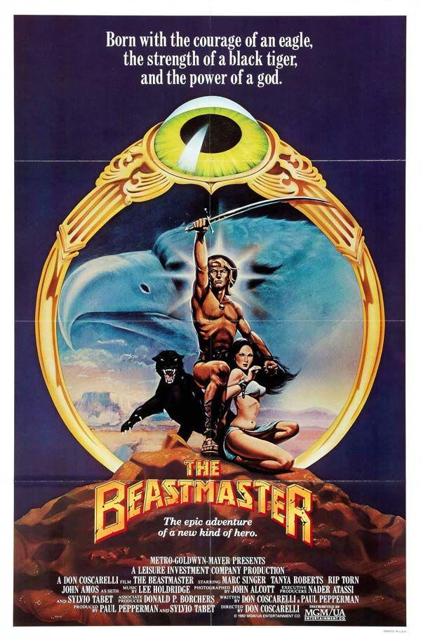 The Beastmaster 1982 Artist Unknown Beastmaster Movie Movie Posters Marc Singer