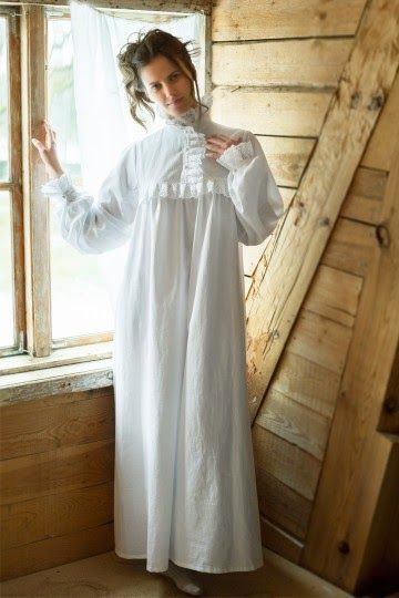 c8290cd7dd Victorian Winter Nightgown inspired by Victorian Edwardian times around  1900 s