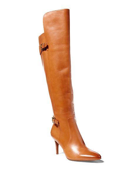 Philena Calfskin Boot - Lauren All Shoes - RalphLauren.com