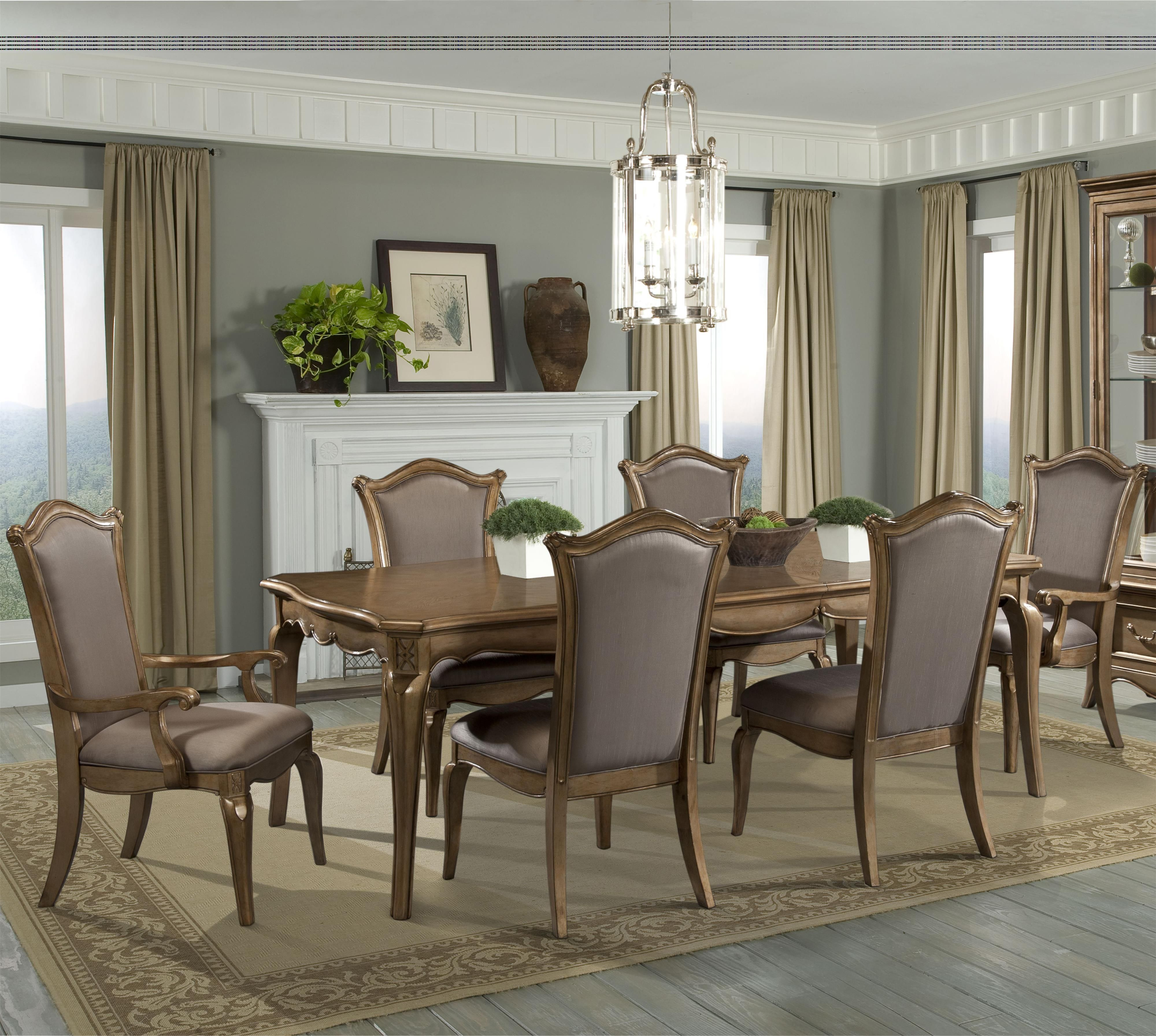 Chambord 7 Piece Dining Set With Uphosltered Chairshomelegance Best Taupe Dining Room Chairs Design Inspiration