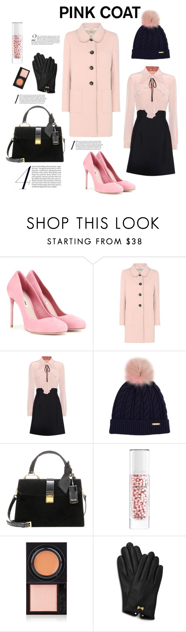 """""""Pink Miu Miu"""" by emmyt94 ❤ liked on Polyvore featuring Miu Miu, Burberry, Guerlain, Surratt and Ted Baker"""