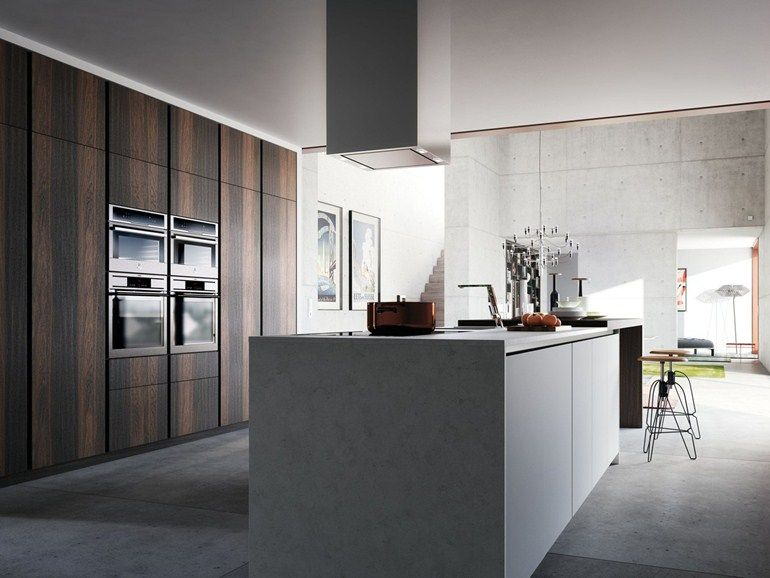 Cucina laccata in legno impiallacciato VELVET ÉLITE - GeD cucine by GeD Arredamenti