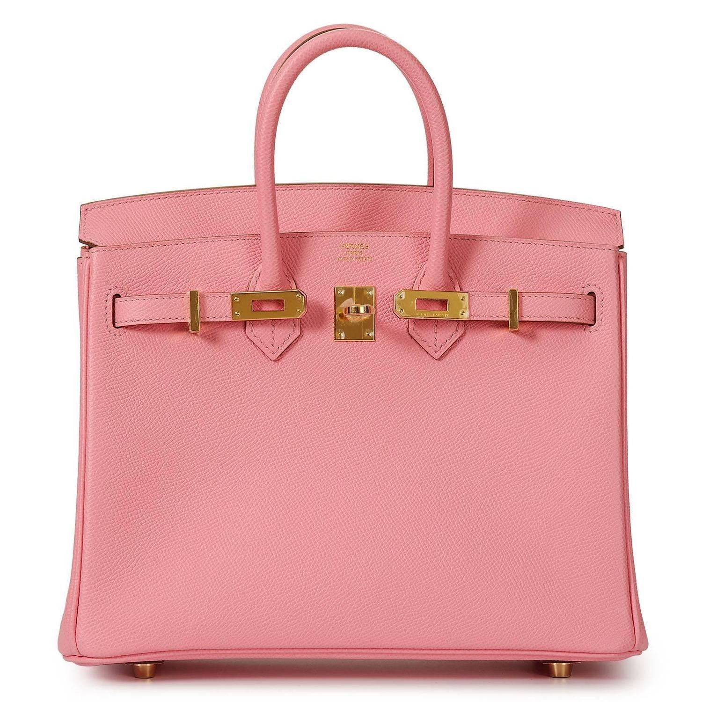 37f72a489620 Hermes Birkin 25 Bag Rose Sakura Pink Palladium Hardware Swift - A Jewel in  2019