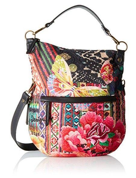 #Desigual Tasche - Modell Hobo Bag. Muster: floral, ethnisch, exotisch,