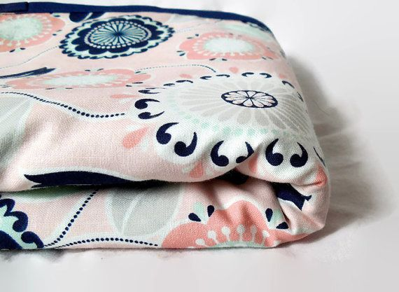 Handmade Car Seat Blanket Car Seat Wrap Floral by AnArtzieMission