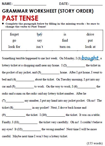Grammar worksheet simple past tense also verb has have had teacher stuff grammer pinterest rh