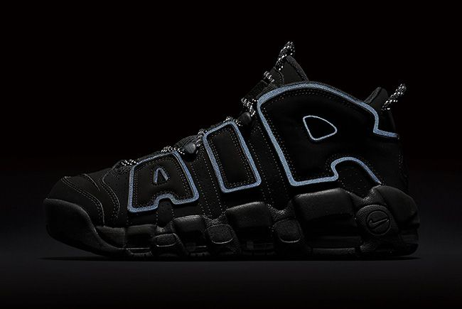 Nike Air More Uptempo Triple Black | Chaussure sport, Mode