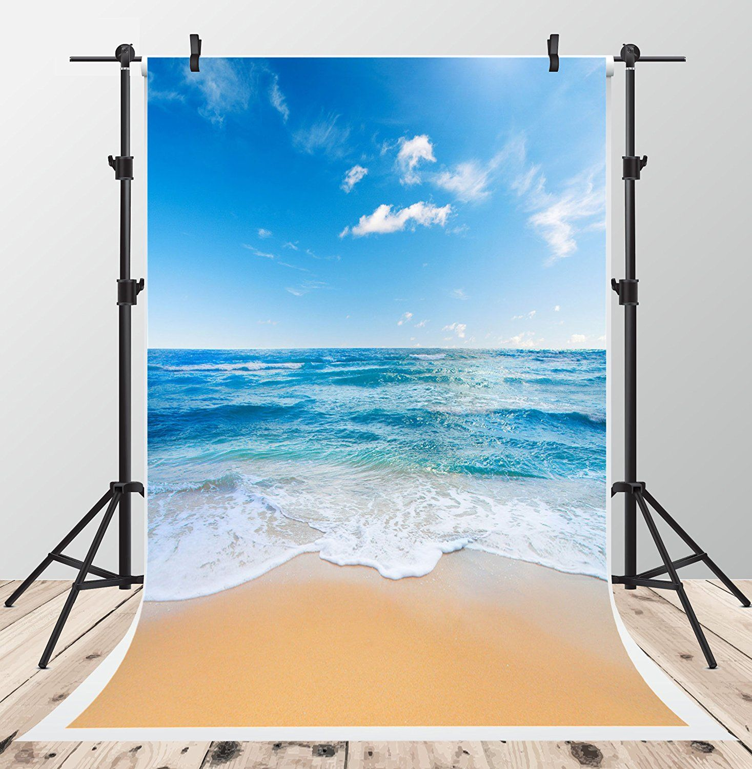 Beach Summer Backdrops Seaside Photography Background Ocean Green Tree Backdrop Wedding Birthday Party Children Lovers Adults Backdrop Props 7x5ft Vinyl E00T10285G