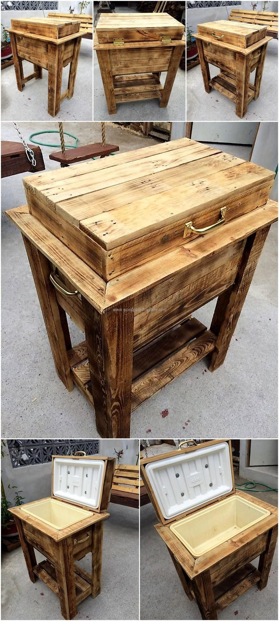 100s Of Deck Railing Ideas And Designs Pallet Cooler Wood